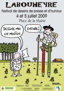 Affiche festival dessin Labouheyre 2009